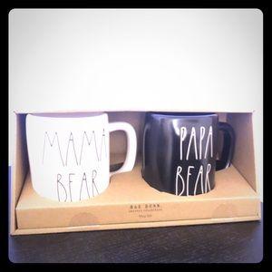 Rae Dunn momma bear poppa bear mugs